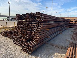 "3 1/2"" Used Red Band Tubing, 1,438 Joints (BID PER JOINT)"