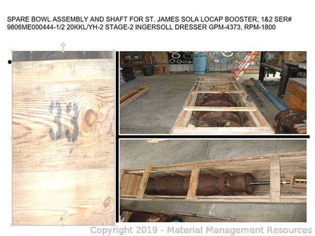 Spare Bowl Assembly and Shaft (IRG-19-175)