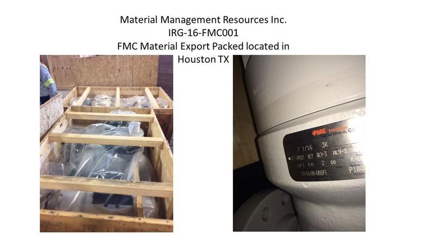 Material Management Resources - Listing: FMC Wellhead